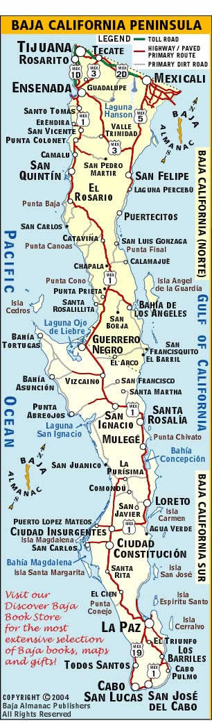 Baja California Map | Discover Baja Travel Club