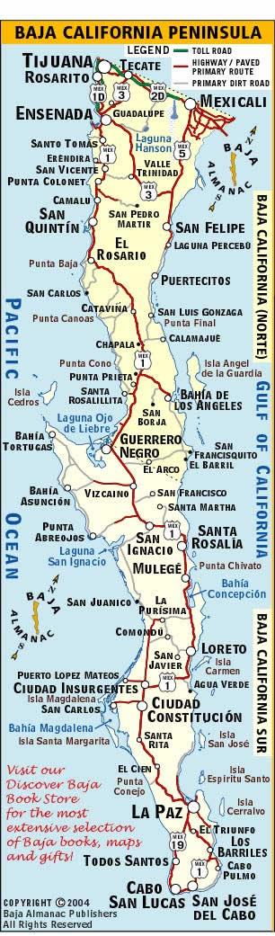 Map Baja California Baja California Map | Discover Baja Travel Club Map Baja California