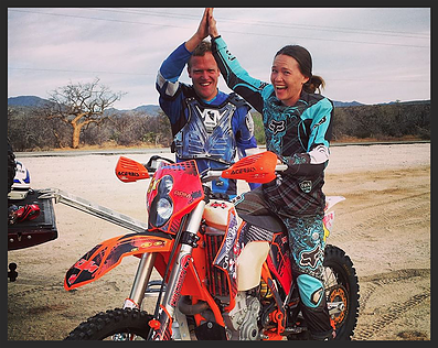 Dual-sport off-road motorcycle touring Captain Baja Discover Baja Carla King