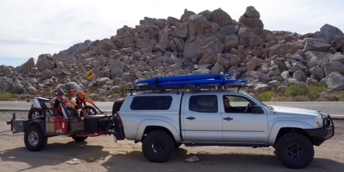 trailering your motorcycle to baja