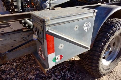 motorcycling baja, ammo cans for motorcycle trailer