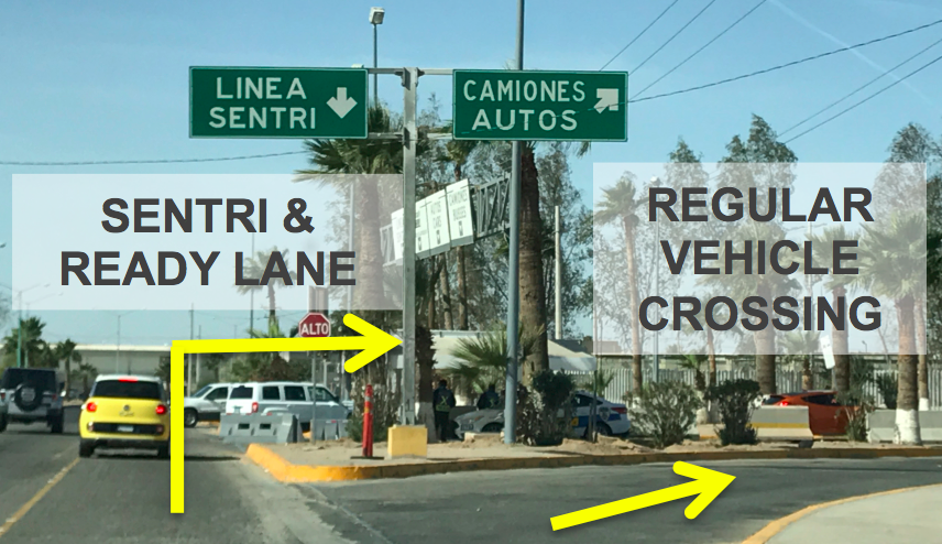 Mexicali East Border Directions