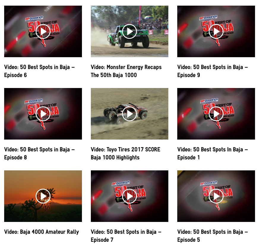 Discover Baja Carla King OffRoad Extreme Videos