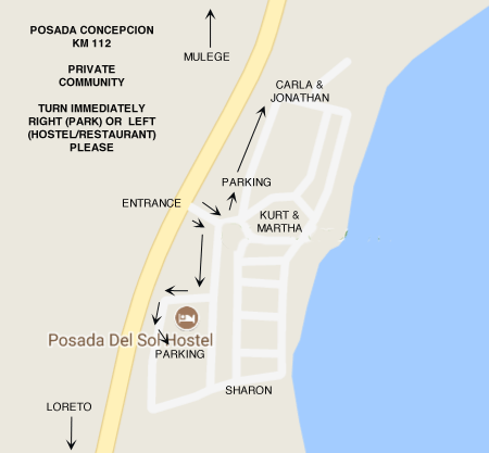 Posada Concepcion Map