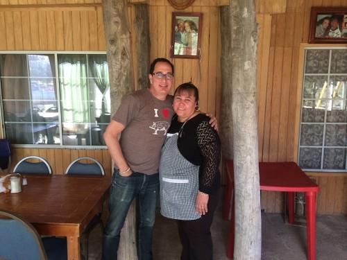 Sam with Esthela from La Cocina de Doña Esthela in the Valle de Guadalupe