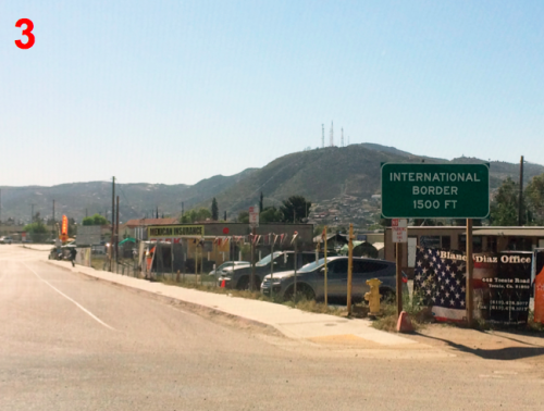 Tecate Baja Border Southbound Directions 3