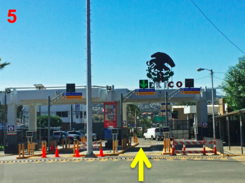 Tecate Baja Border Southbound Directions 5