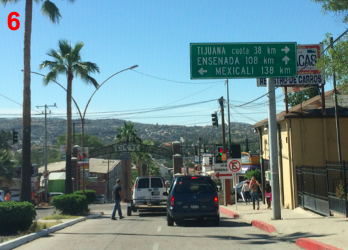 Tecate Baja Border Southbound Directions 6