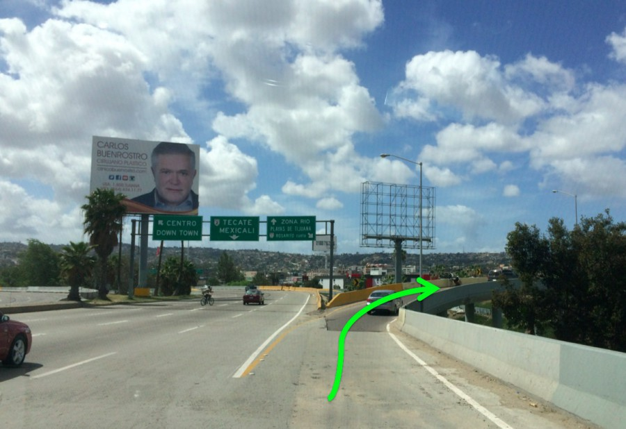 Via Internacional Tijuana Construction Detour Directions 3
