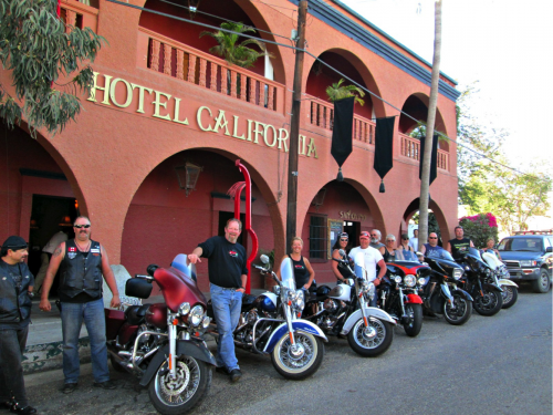 baja motorcycle hotel california