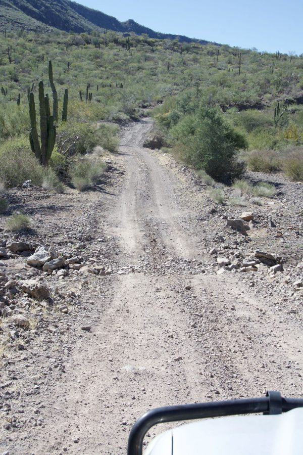 Off-road Baja east to west at km 61