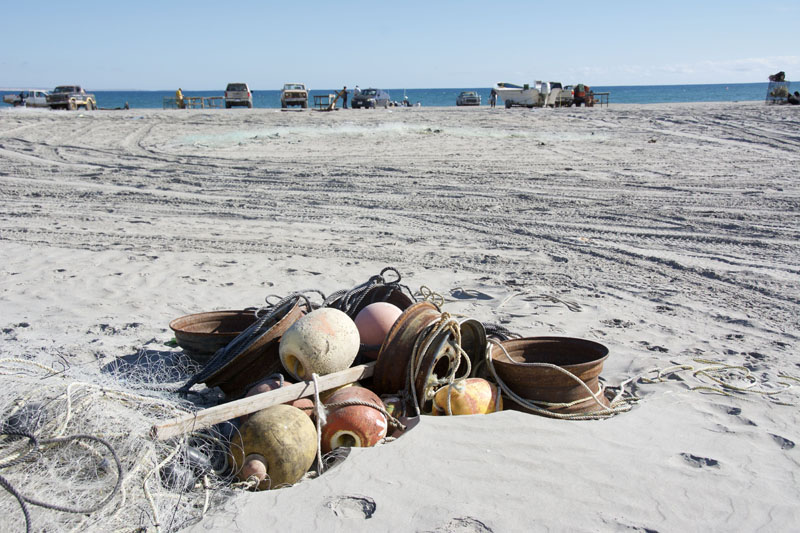 San Juanico beaches and fishermen