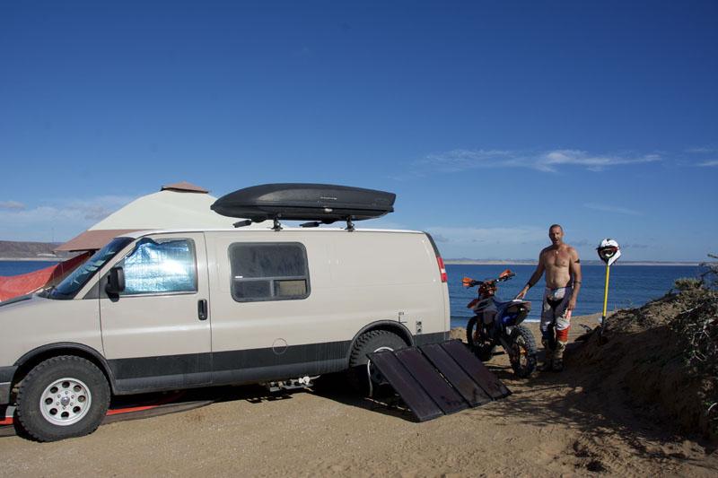 David camping in Scorpion Bay