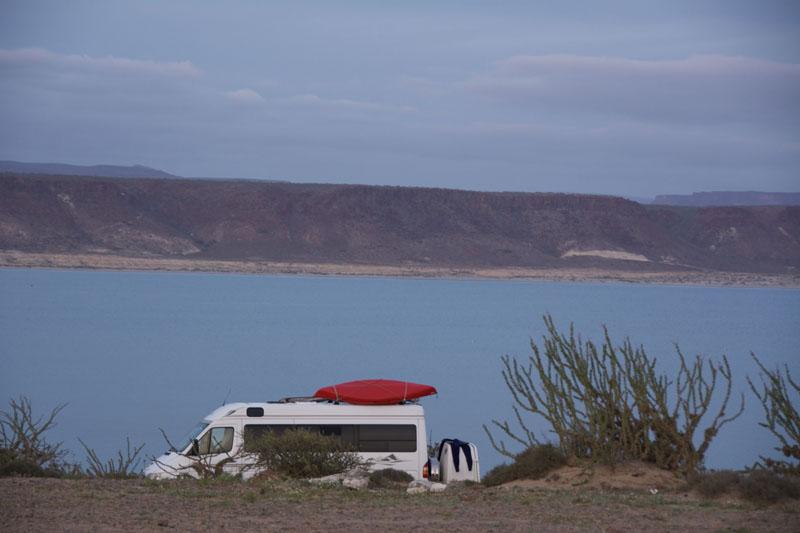 San Juanico camping in a Sprinter van