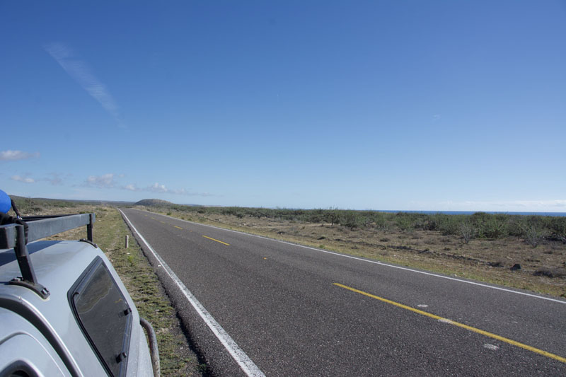 The highway to San Juanico