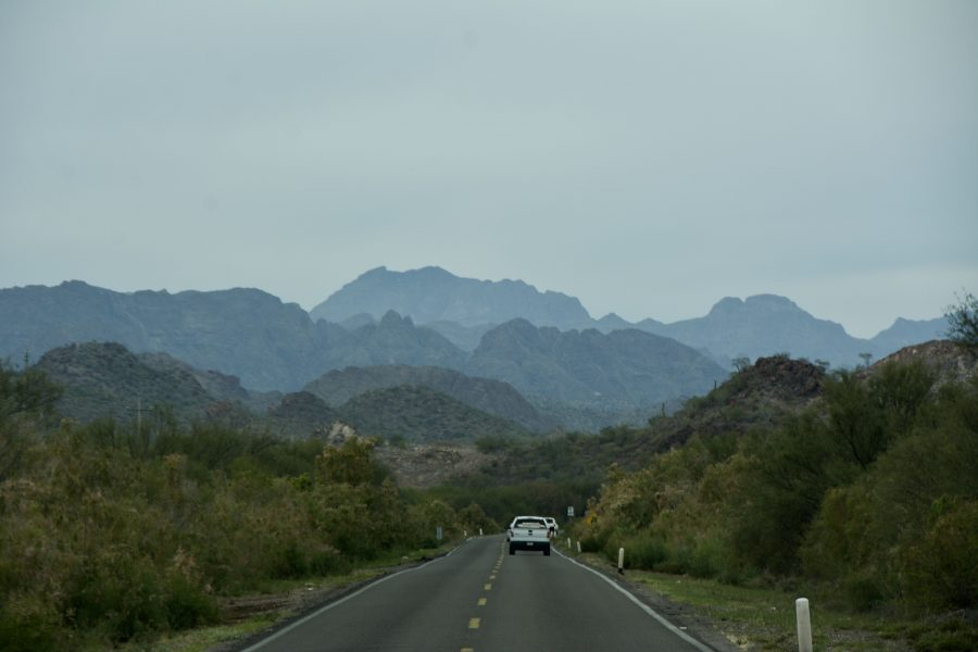 After a long while, MEX1 East of Loreto from Insurgentes gets scenic.