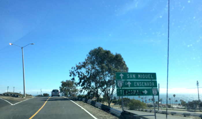 5. You will be rerouted back to the toll road at San Miguel, just north of Ensenada. Follow the signs directing you to Ensenada, MEX 1.