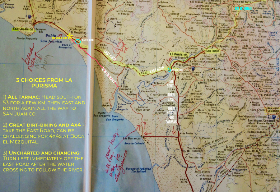 My annotated atlas of the trip, click to enlarge.