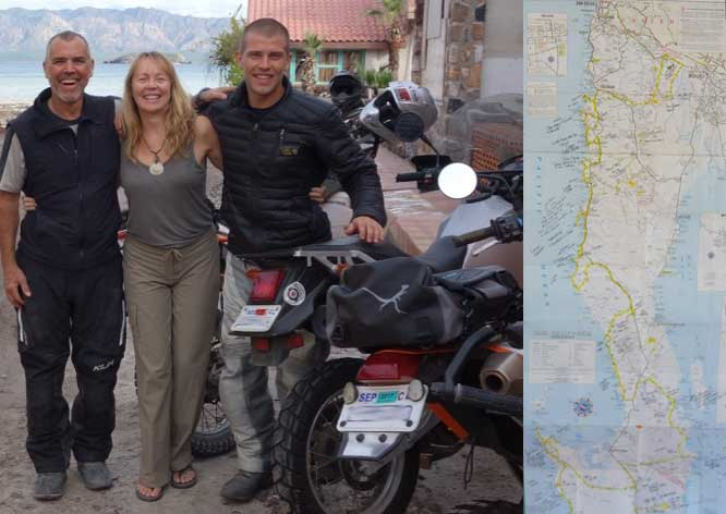 David Sweezy of Cycle Wipes rides through Baja