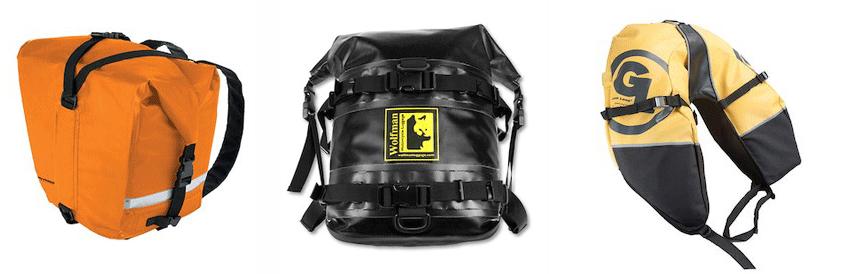 motorcycle adventure saddlebags soft luggage