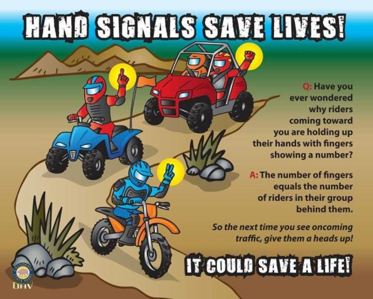 OHV hand signals