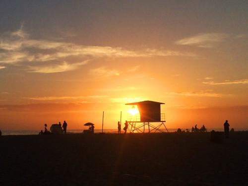 rosarito beach baja sunset