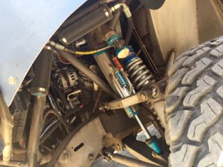 Baja racing truck suspension